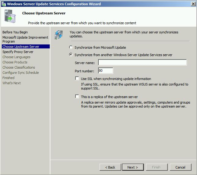 Choose Upstream Server