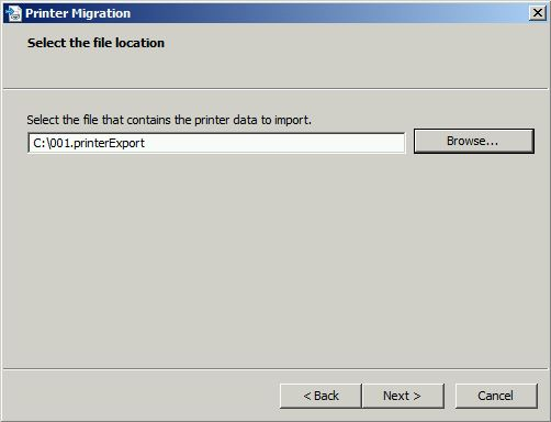 Select The File Location (import)