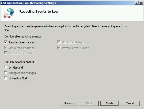 recycling event to log