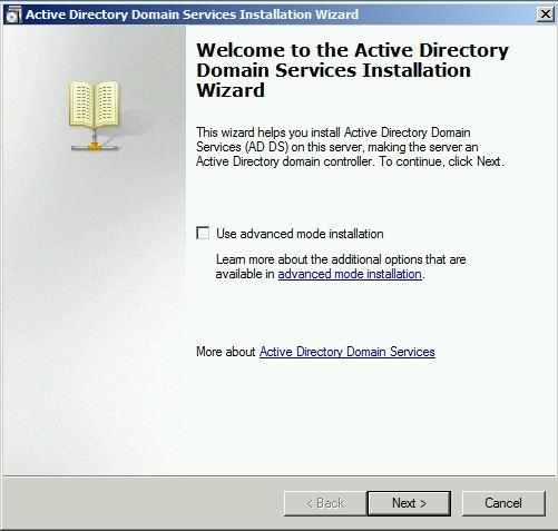 Use Advanced mode installation